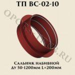 Сальник набивной L = 200 мм ТП ВС-02-10