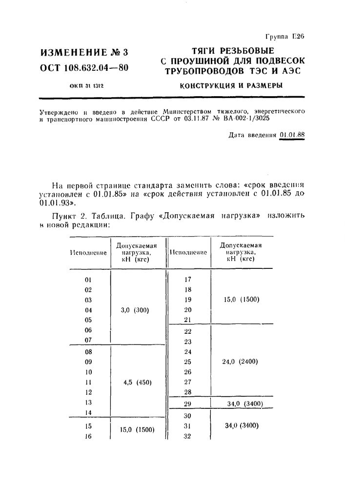 Тяги резьбовые с проушиной ОСТ 108.632.04-80 стр.9