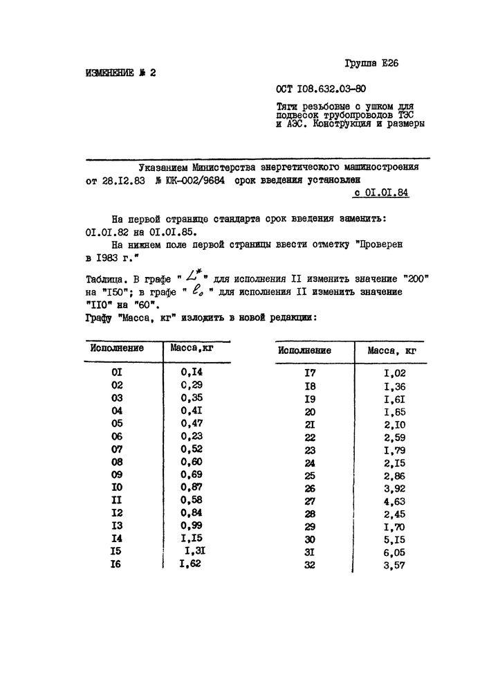 Тяги резьбовые с ушком ОСТ 108.632.03-80 стр.6