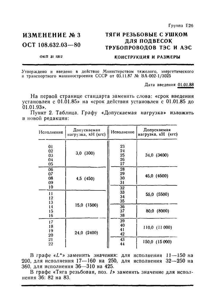Тяги резьбовые с ушком ОСТ 108.632.03-80 стр.8
