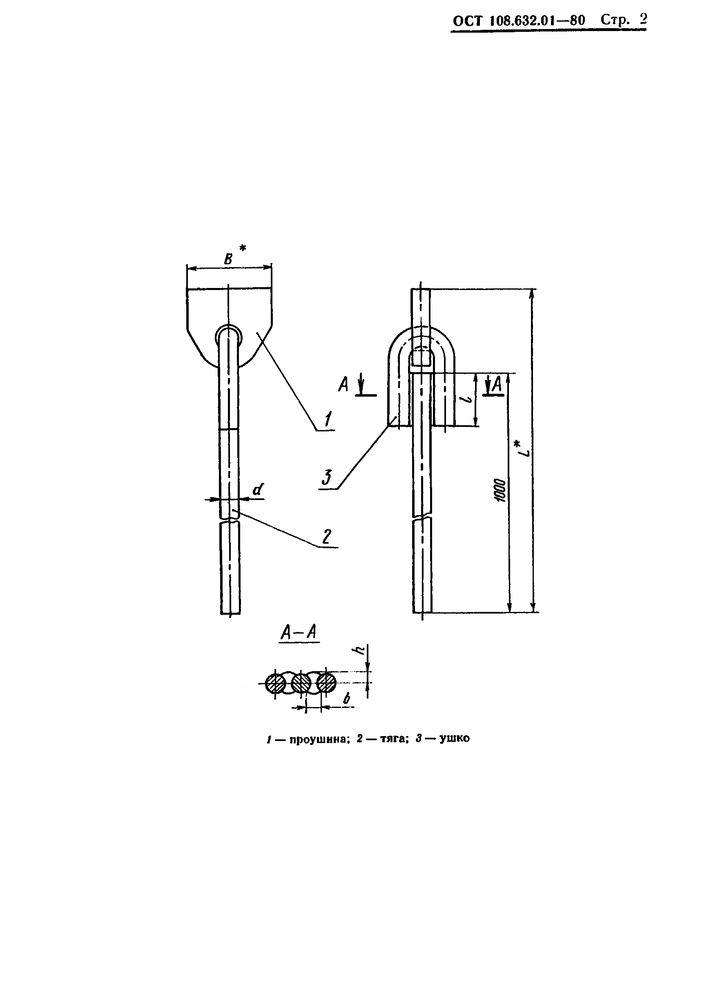 Тяги с проушиной ОСТ 108.632.01-80 стр.2