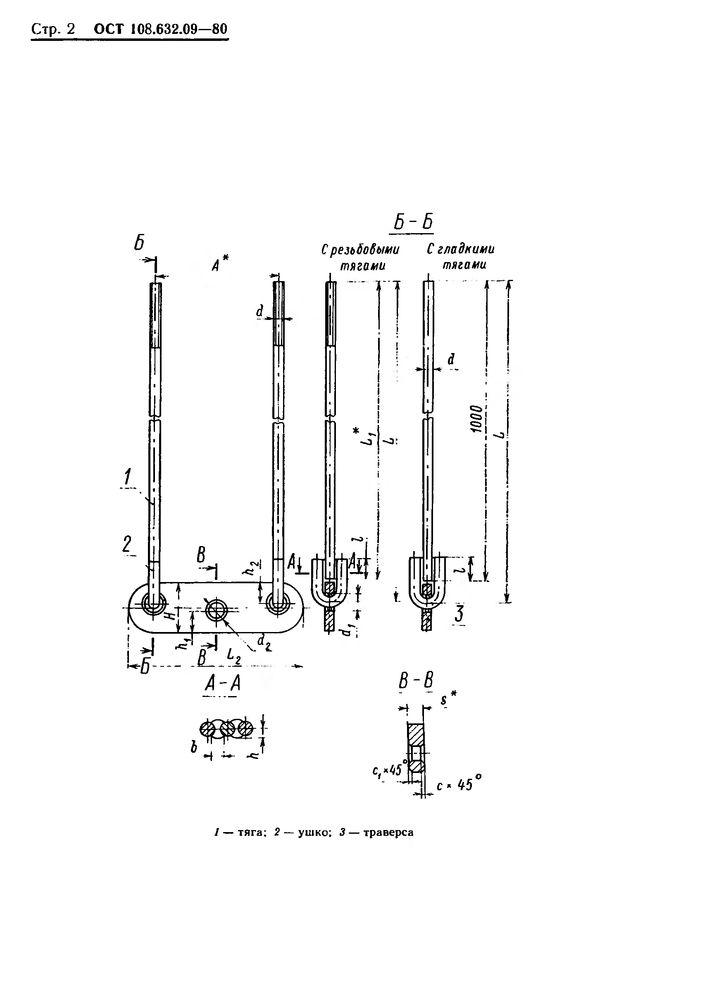 Тяги с траверсой ОСТ 108.632.09-80 стр.2