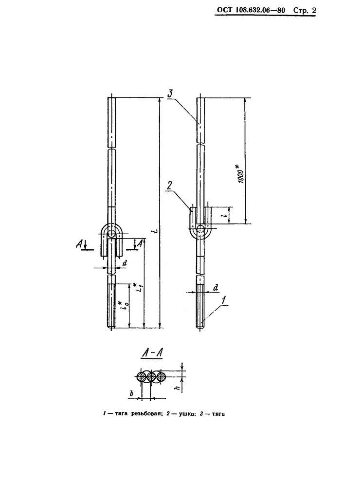 Тяги шарнирные резьбовые ОСТ 108.632.06-80 стр.2