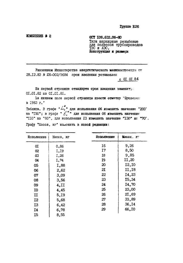 Тяги шарнирные резьбовые ОСТ 108.632.06-80 стр.6