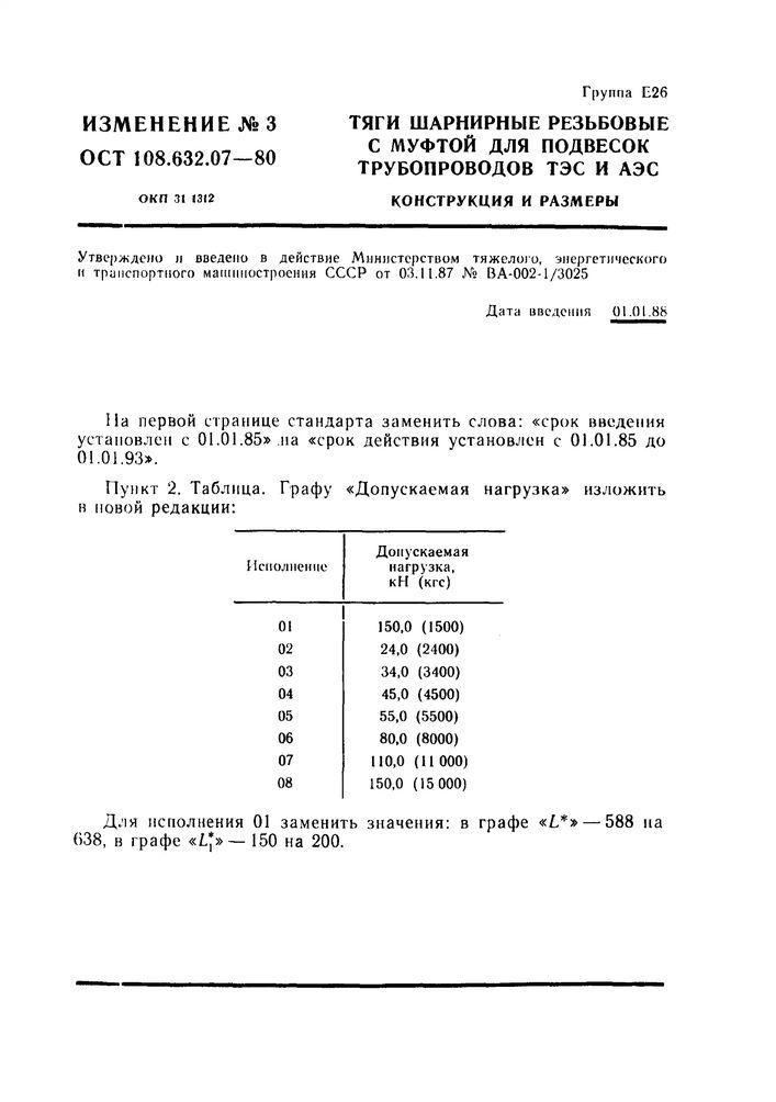 Тяги шарнирные резьбовые с муфтой ОСТ 108.632.07-80 стр.6