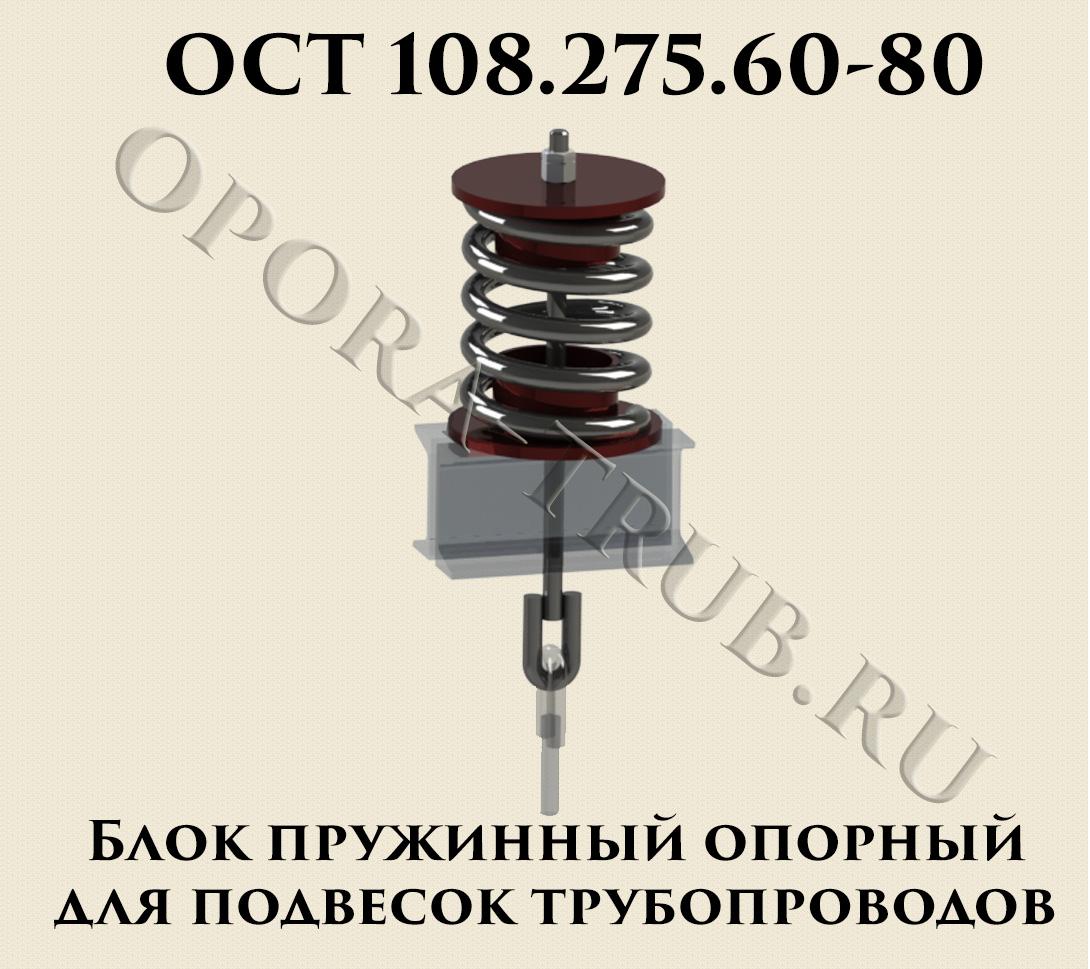 ОСТ 108.275.60-80 Блок пружинный опорный