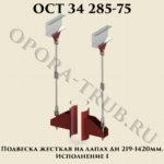 Подвеска жесткая на лапах Дн 219 - 1420 мм. Исполнение 1 ОСТ 34 285-75