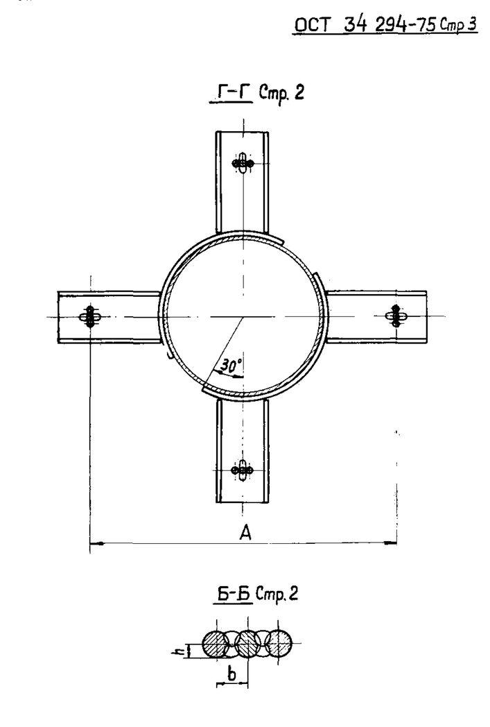 Подвески с опорными пружинами на сдвоенных лапах ОСТ 34 294-75 стр.3