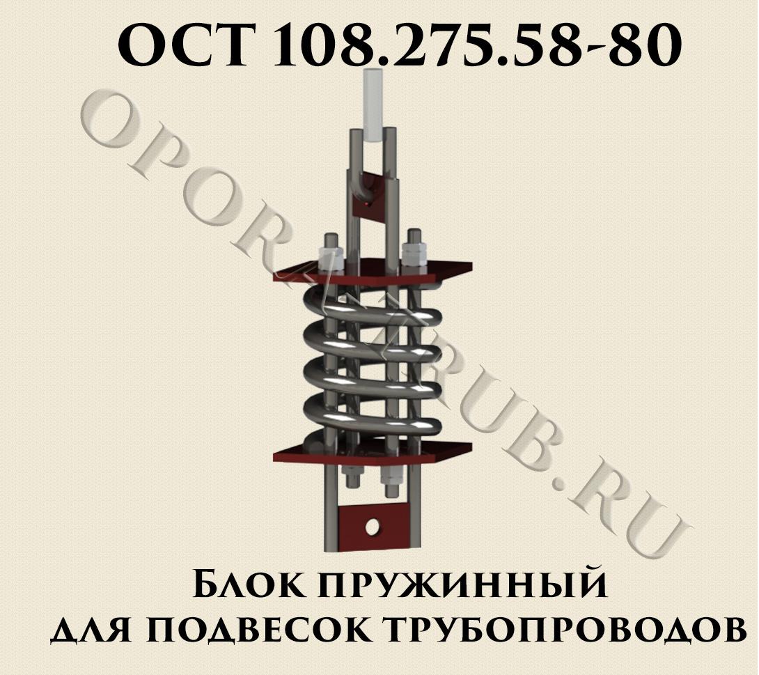 ОСТ 108.275.58-80 Блок пружинный