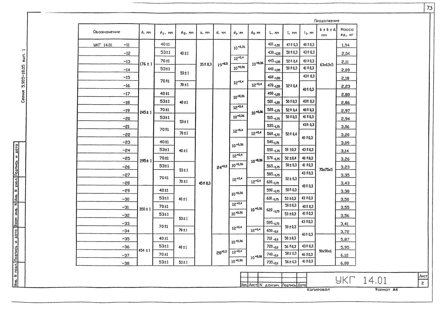 Крепление 2х (двух) вспомогательных газопроводов к основному УКГ 14.00 СБ серия 5.905-18.05 выпуск 1 стр.15