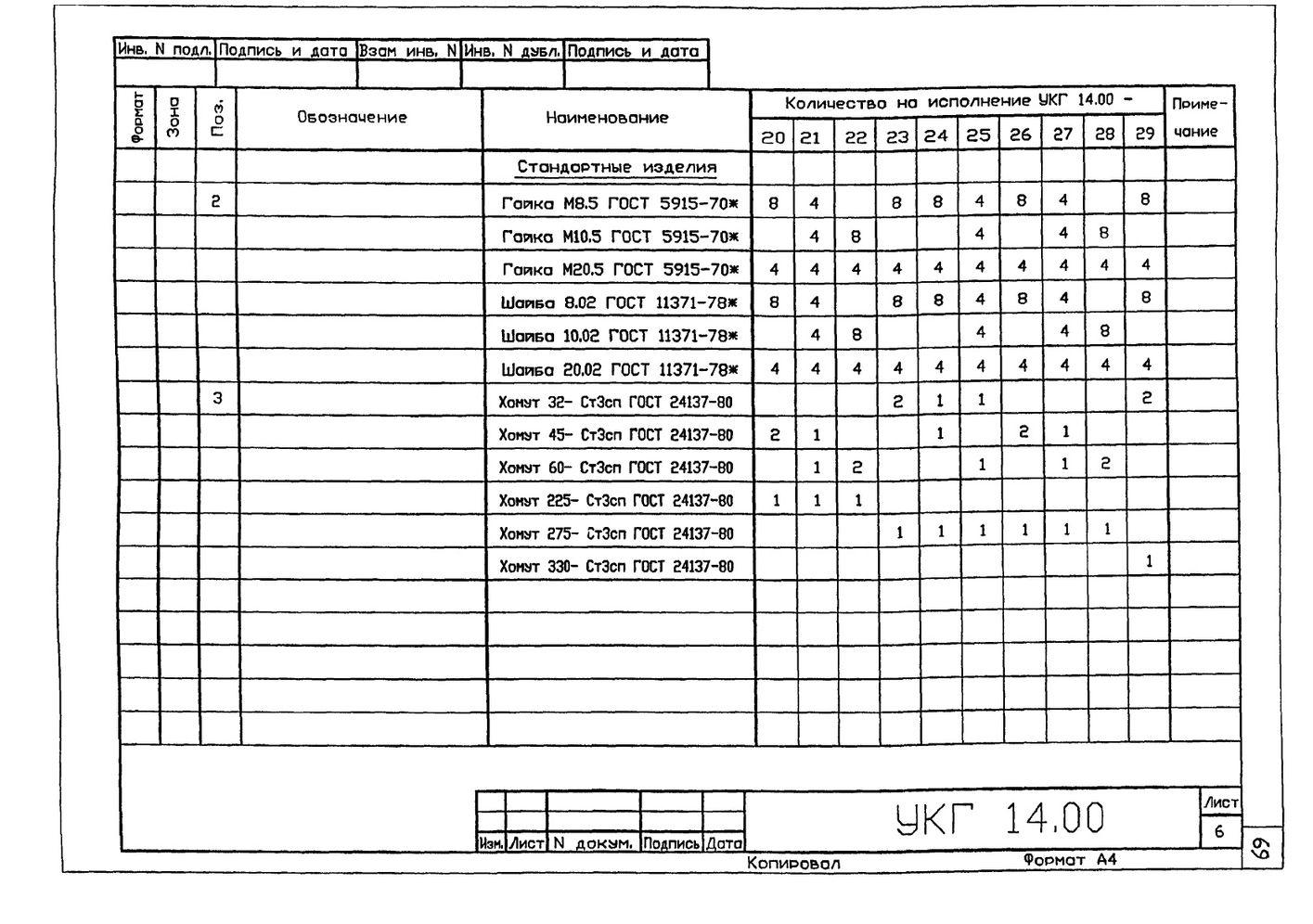 Крепление 2х (двух) вспомогательных газопроводов к основному УКГ 14.00 СБ серия 5.905-18.05 выпуск 1 стр.9