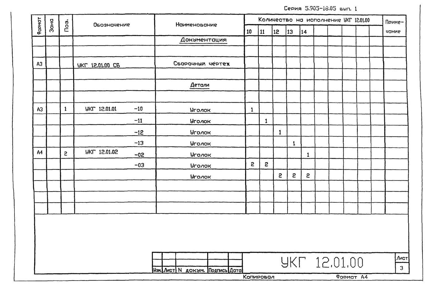 Крепление горизонтального газопровода Ду 250…1000 мм на отдельно стоящей опое УКГ 12.00 СБ серия 5.905-18.05 выпуск 1 стр.9