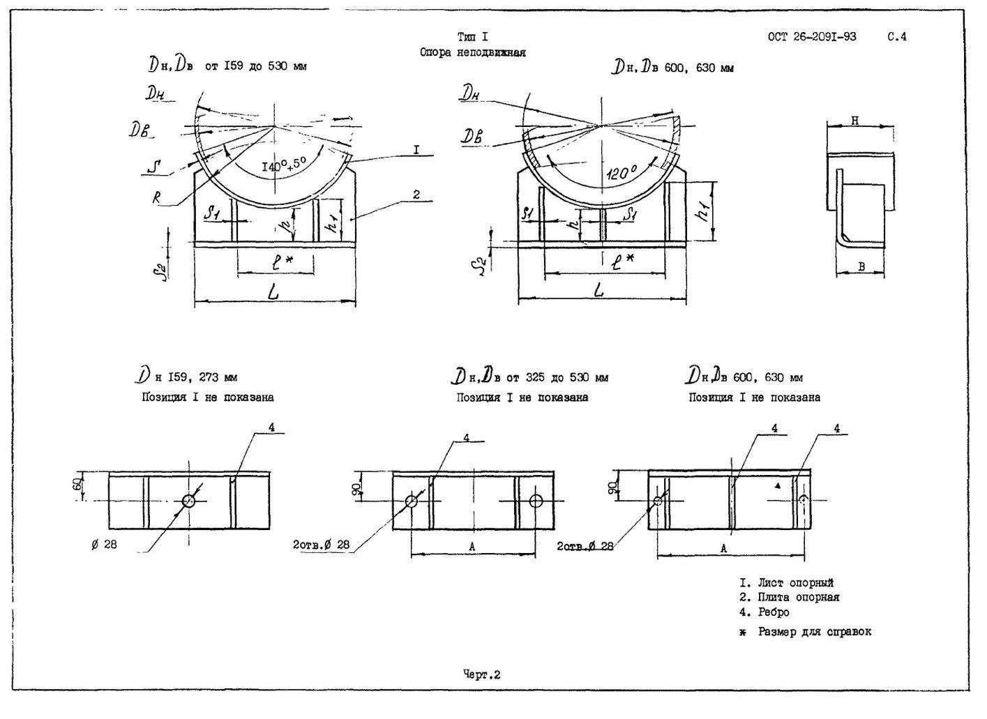 Опоры тип 1 ОСТ 26-2091-93 стр.2