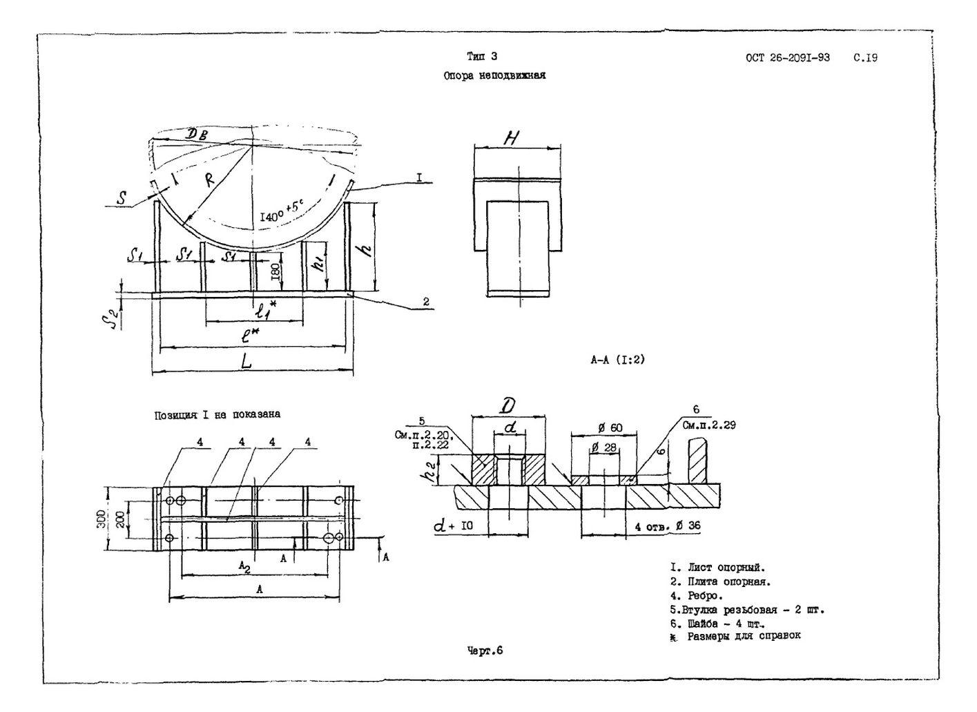 Опоры тип 3 ОСТ 26-2091-93 стр.2