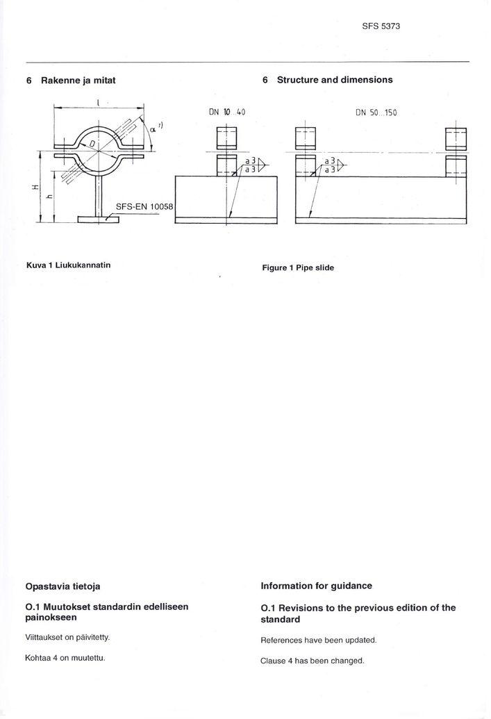SFS 5373 Опоры низкие DN 10-150