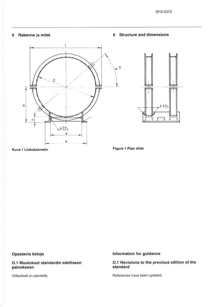 SFS 5375 Опоры низкие DN 600-1200