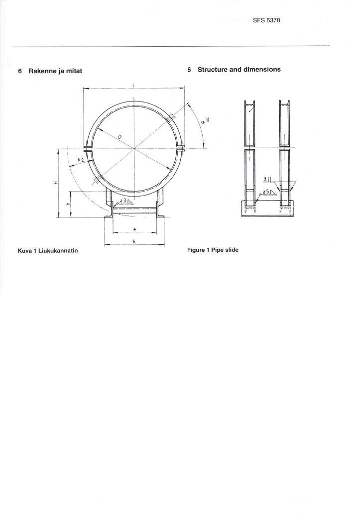 SFS 5378 Опоры высокие DN 600-1200