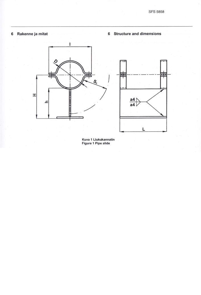 SFS 5858 Опоры высокие DN 10-150