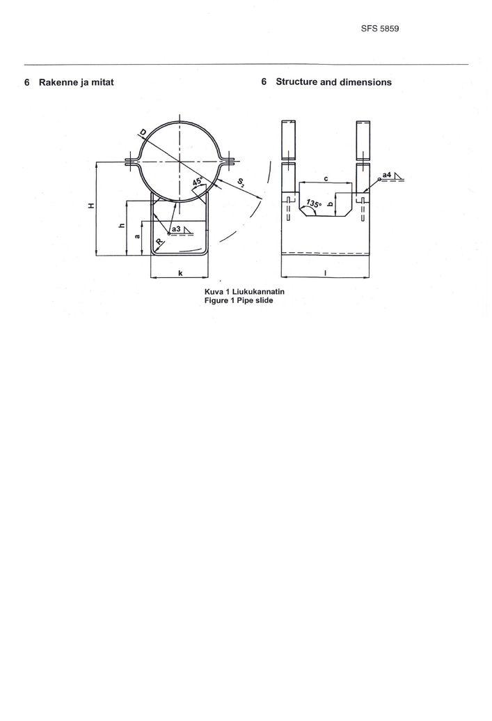 SFS 5859 Опоры высокие DN 200-500