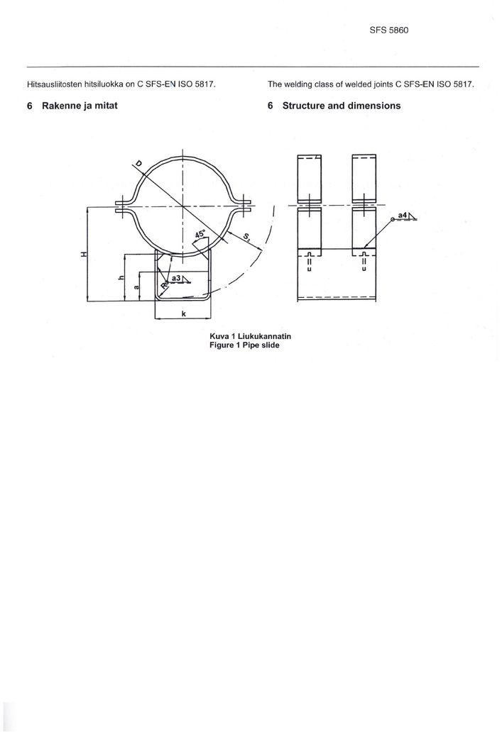SFS 5860 Опоры высокие DN 600-1200