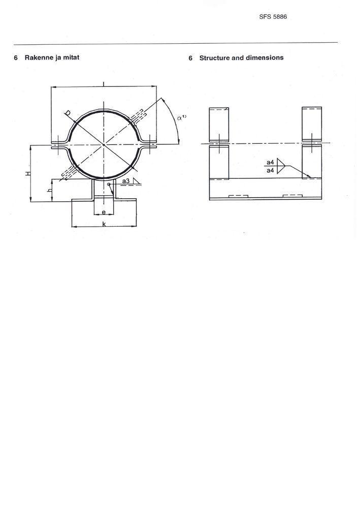 SFS 5886 Опоры для полипропиленовых и армированных термопластичных труб (FRP) DN 200-500