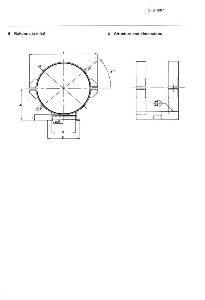 SFS 5887 Опоры для полипропиленовых и армированных термопластичных труб (FRP) DN 600-1200