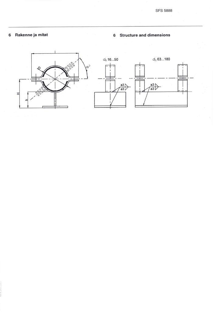 SFS 5888 Опоры для термопластичных труб DN 16-180