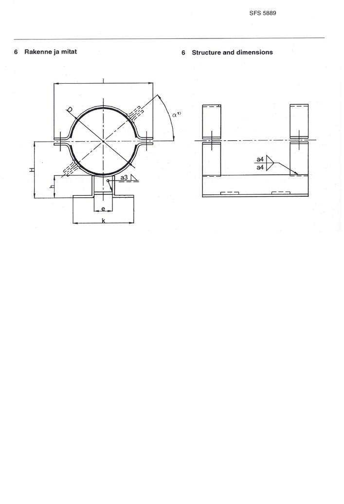 SFS 5889 Опоры для термопластичных труб DN 200-560