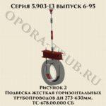 Подвеска жесткая горизонтальных трубопроводов ТС-678.00.000 СБ серия 5.903-13 выпуск 6-95 рис.2