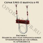 Подвеска жесткая горизонтальных трубопроводов ТС-679.00.000 СБ серия 5.903-13 выпуск 6-95 рис.1