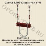Подвеска жесткая горизонтальных трубопроводов ТС-679.00.000 СБ серия 5.903-13 выпуск 6-95 рис.2