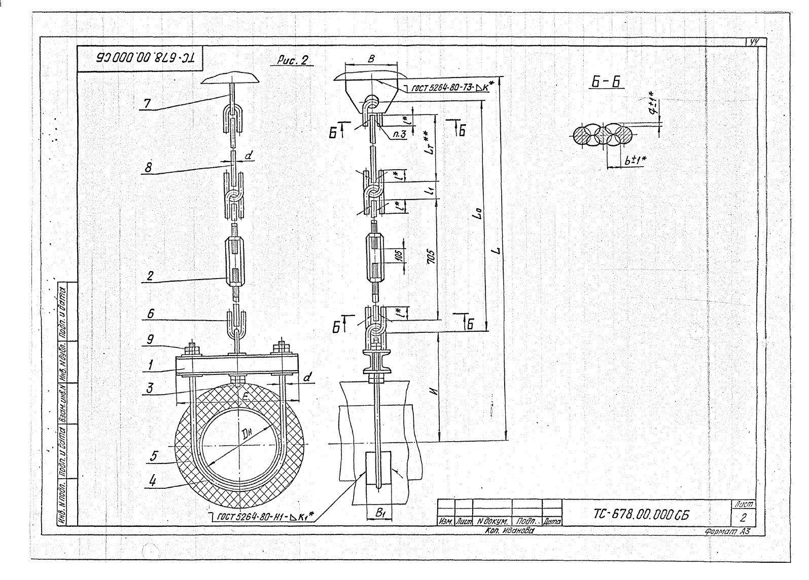 Подвески жесткие Дн 273-630 ТС-678 с.5.903-13 вып.6-95 стр.2
