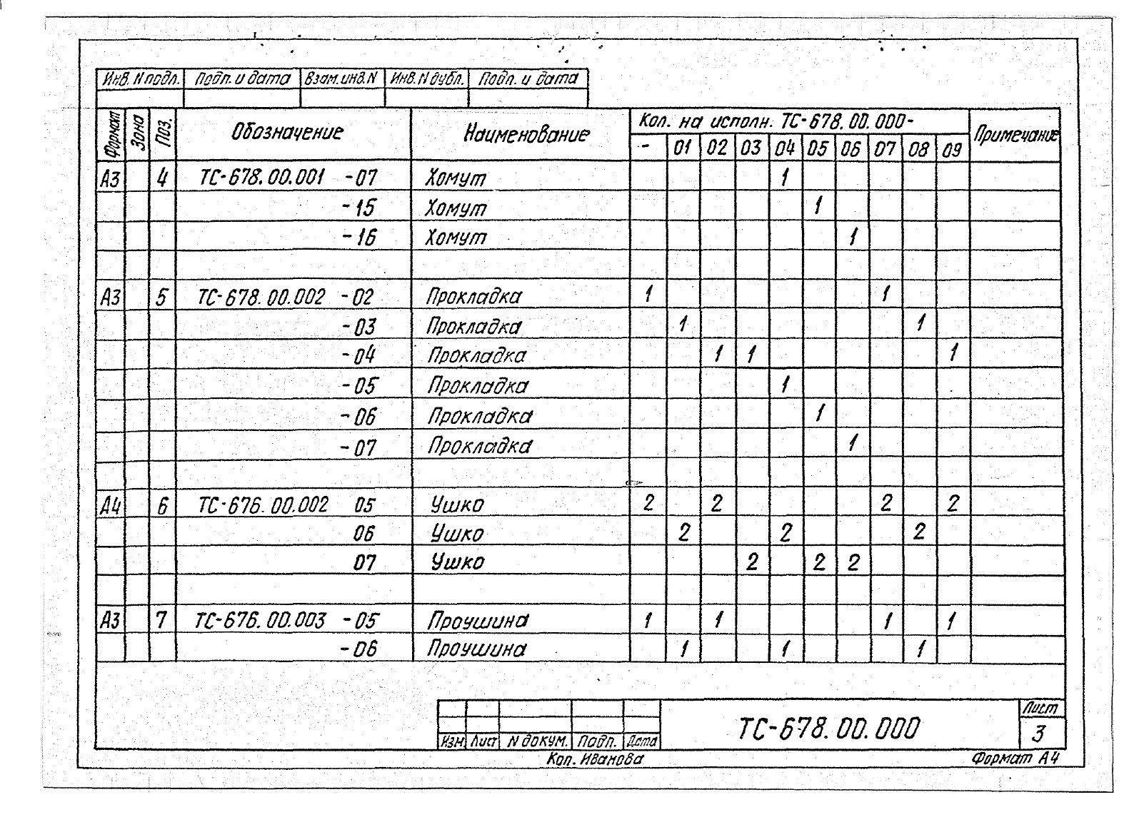 Подвески жесткие Дн 273-630 ТС-678 с.5.903-13 вып.6-95 стр.6