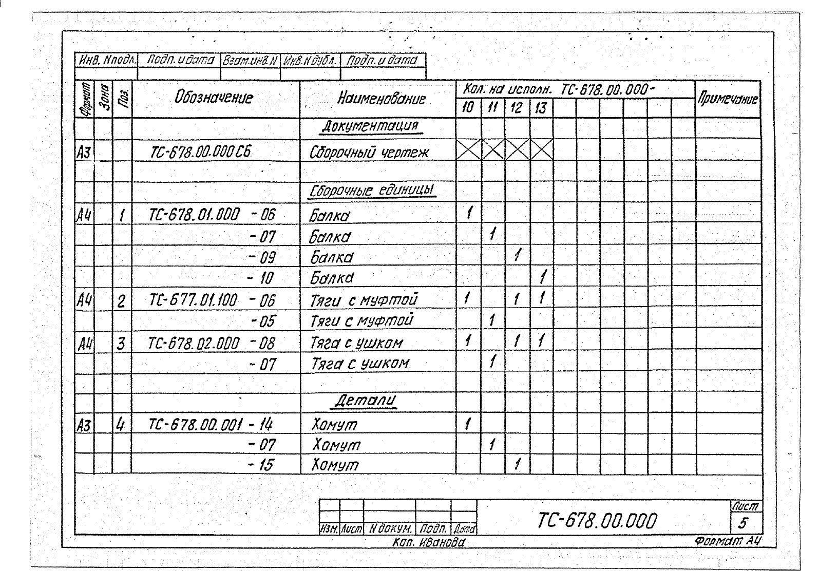 Подвески жесткие Дн 273-630 ТС-678 с.5.903-13 вып.6-95 стр.8