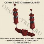 Подвеска пружинная вертикальных трубопроводов ТС-690.00.000 СБ серия 5.903-13 выпуск 6-95