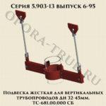 Подвеска жесткая для вертикальных трубопроводов ТС-681.00.000 СБ серия 5.903-13 выпуск 6-95