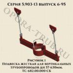 Подвеска жесткая для вертикальных трубопроводов ТС-682.00.000 СБ серия 5.903-13 выпуск 6-95 рис.1