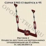 Подвеска жесткая для вертикальных трубопроводов ТС-682.00.000 СБ серия 5.903-13 выпуск 6-95 рис.2