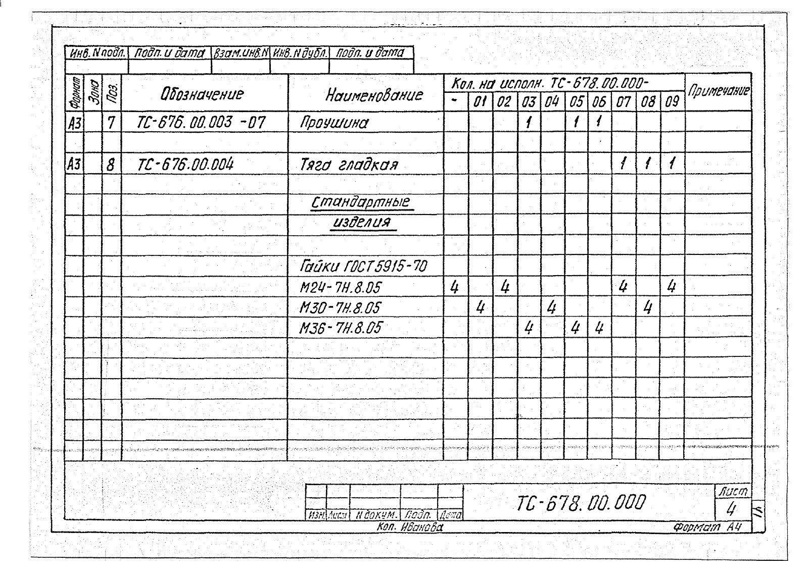 Подвески жесткие Дн 273-630 ТС-678 с.5.903-13 вып.6-95 стр.7