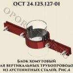 Блок хомутовый ОСТ 24-125-127-01 рис.4