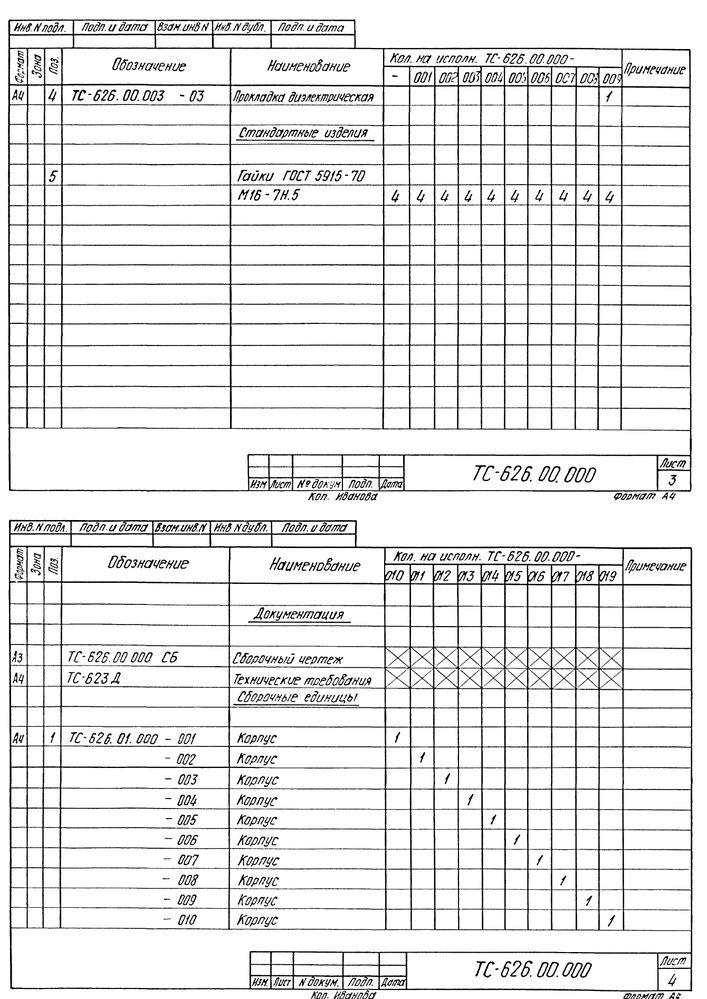 Опора скользящая хомутовая ТС-626.00.000 серия 5.903-13 выпуск 8-95 стр.7