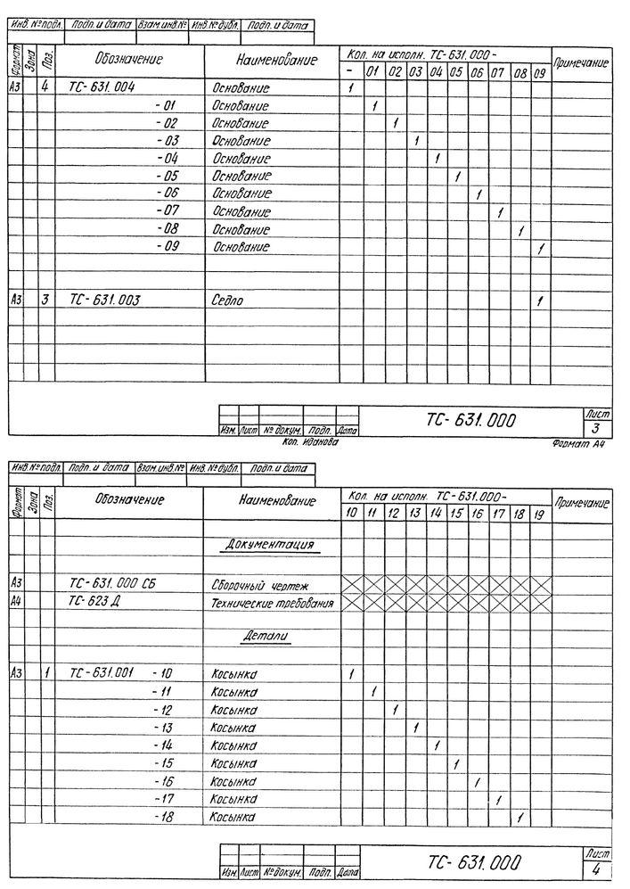 Опора сварных отводов ТС-631.000 серия 5.903-13 выпуск 8-95 стр.5