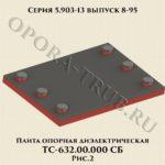 Плита опорная диэлектрическая ТС-632.00.000 СБ серия 5.903-13 выпуск 8-95 рис.2