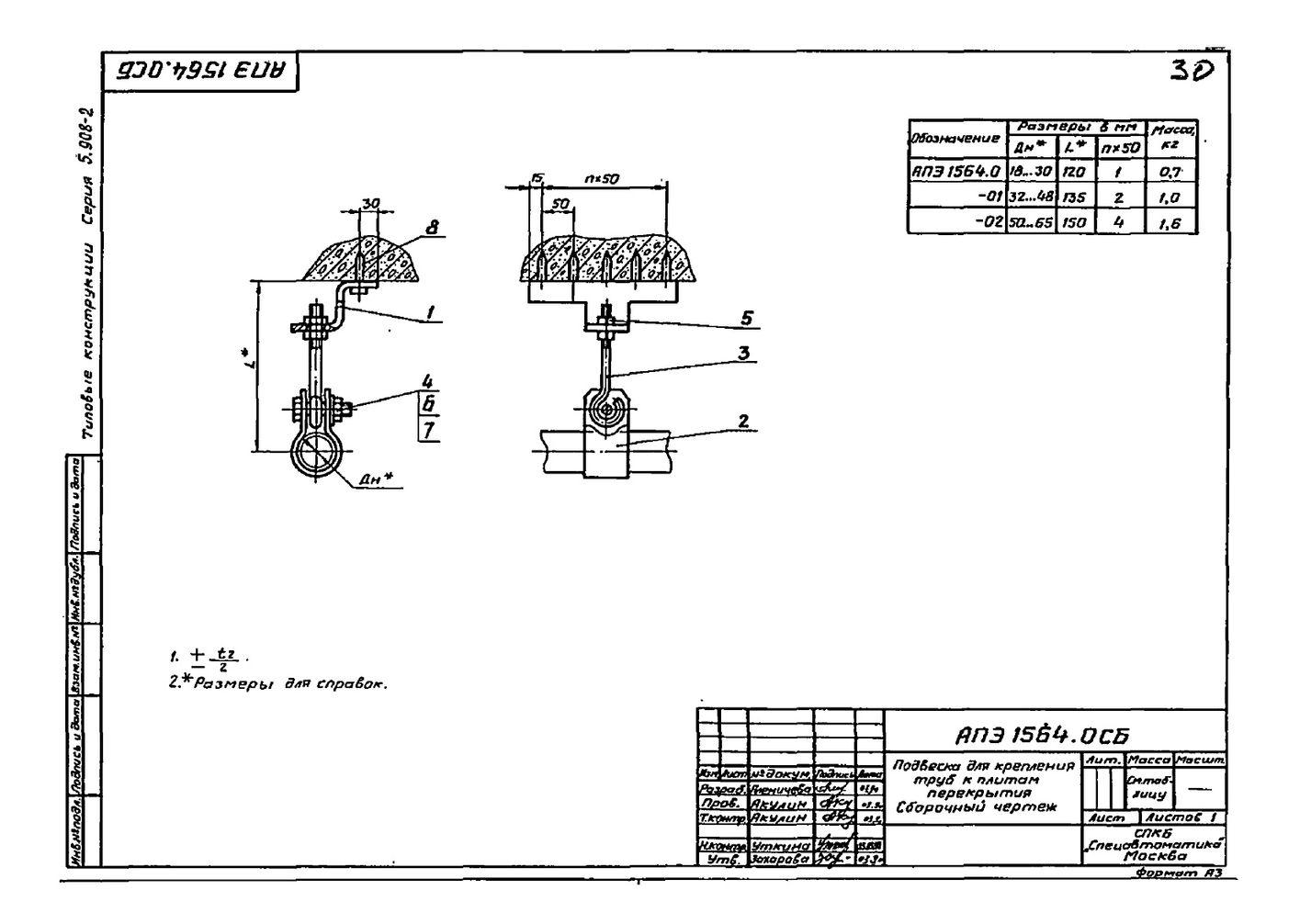 Подвеска АПЭ 1564.0 серия 5.908-2 стр.1