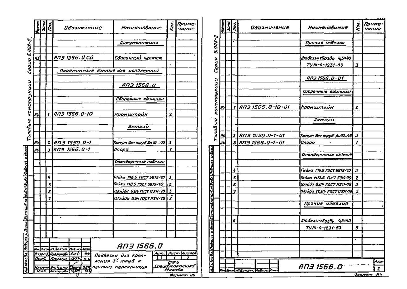 Подвеска АПЭ 1566.0 серия 5.908-2 стр.2