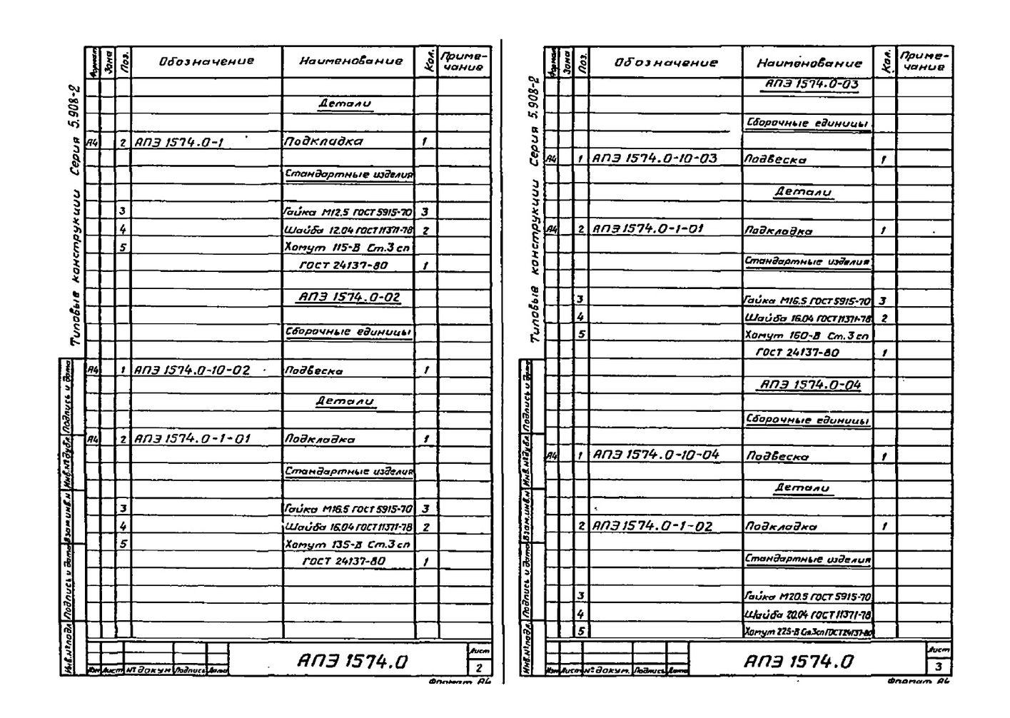 Подвеска АПЭ 1574.0 серия 5.908-2 стр.3