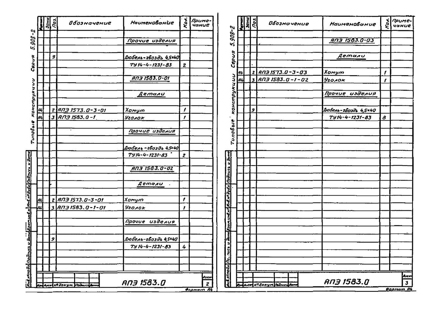 Подвеска АПЭ 1583.0 серия 5.908-2 стр.3