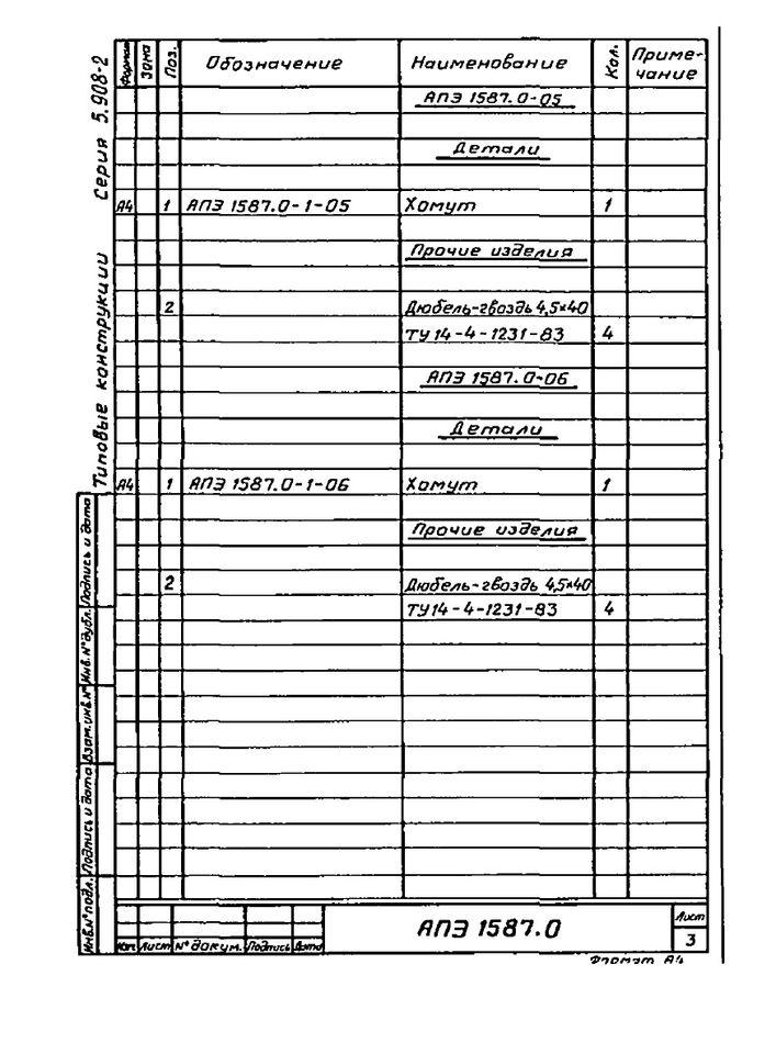 Подвеска АПЭ 1587.0 серия 5.908-2 стр.3