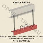 Подвеска для крепления двух труб Дн 18-219 мм к металлоконструкциям АПЭ 1579.0 серия 5.908-2