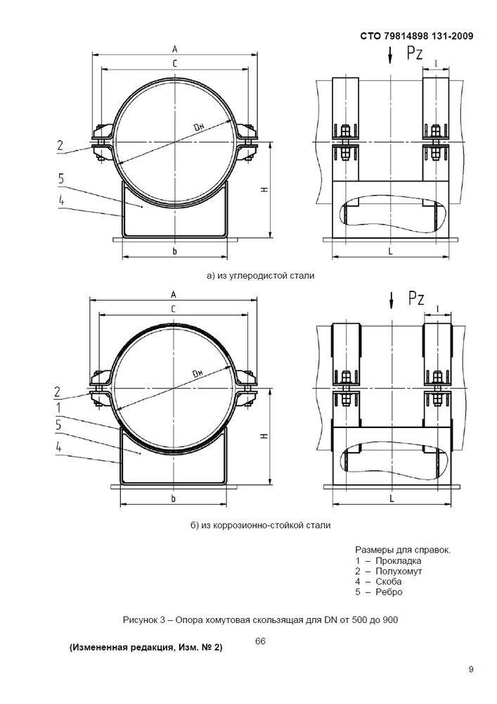 Опоры хомутовые скользящие, неподвижные и направляющие СТО 79814898 131-2009 стр.12